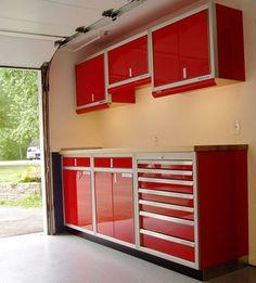 Garage Cabinets Ideas garage cabinet makeover with chalk paint | natalme | pinterest
