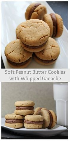 Soft bite-sized peanut butter cookies filled with Whipped Chocolate Ganache. MyRecipeReviews.com