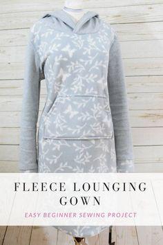 How to Make a Fleece Lounging Gown Designers Sweet Spot www.designerssweetspot.com