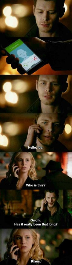 """Honestly, caroline, who else greets you that way with that awesome voice? """"the vampire diaries"""" (tvd - klaus (joseph morgan) & caroline (candice king) Vampire Diaries Memes, Serie The Vampire Diaries, Vampire Diaries Poster, Vampire Diaries Wallpaper, Vampire Diaries Damon, Vampire Diaries The Originals, Caroline Forbes, Klaus And Caroline, Joseph Morgan"""