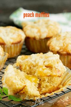 Streusel Topped Peach Cobbler Muffins recipe taste just like peach cobbler. These muffins are fluffy, tender homemade muffins full of sweet peaches and a hint of cinnamon. #muffins #breakfast #peach #streusell #baking #homemade #fromscratch