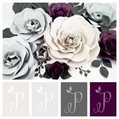 @paperandpeony #colorpalette #greyandpurple #violet #fiftyshadeofgrey #grea #paperflower #paperflowerbackdrop #custombackdrop #weddingbackdrop #paperflower #giantpaperflowers www.paperandpeony.etsy.com