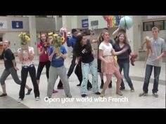Madame Behlow's French Classes made a music video to encourage students to study French. Study French, French Kids, Core French, First Week Activities, Learn To Speak French, Learning A Second Language, French Songs, French Education, French Classroom