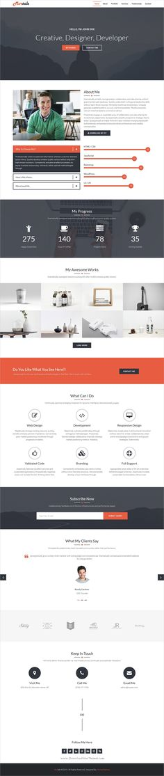 Partex - One page Resume\/ CV \ Personal Portfolio PSD Template - one page resume