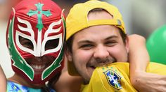 تماشاگران ویژه دیدار برزیل و مکزیک گزارش تصويري World Cup BRAZIL 2014 [www.WorldCupIran.com]