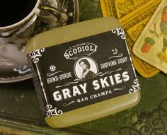 Gray Skies Shaving Soap by ScodioliCreative on Etsy, $8.00