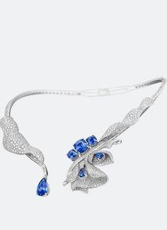Les Volants de la Reine Blue Sapphire and Diamond Collier by Breguet