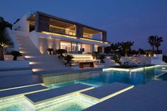 This luxurious modern villa renovation project by architecture studioSAOTA is located on the island of Ibiza,an island in the Mediterranean Sea, inSpain.