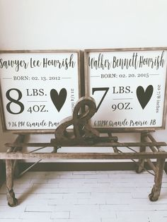 Craft Gifts For Father - Fantastic Present Strategies Custom Birth Stats 24 X 24 - Timber Gray Design Co. Diy Love, Little Mac, Wood Crafts, Diy Crafts, Décor Antique, Diy Décoration, Baby Shower, Decoration Design, Home Decoration