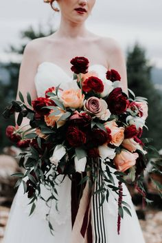 Flirty Fleurs - :: Fall Bouquets with Red: Amber Tyler Photography Amy Lynn Photography Art Stems on Lygon Spring Wedding Bouquets, Fall Bouquets, Fall Wedding Bouquets, Bride Bouquets, Floral Bouquets, Bridesmaid Bouquet, Floral Wedding, Wedding Centerpieces, Wedding Decorations