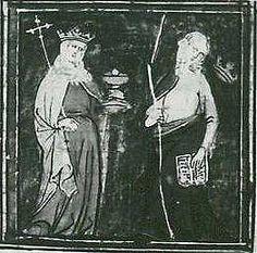 a Las personificaciones de Ecclesia y Synagoga son frecuentes en el arte eclesiástico medieval. Su Representación en marfiles carolingios, manuscritos iluminados y otros objetos litúrgicos, llegando luego a constituir un elemento habitual en la decoración escultórica de iglesias románicas y góticas del Viejo Continente