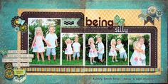 Spring Scrapbook Layout... Nice Colors (not too girly)  I always struggle to put that title on the right hand page... but I like this one.