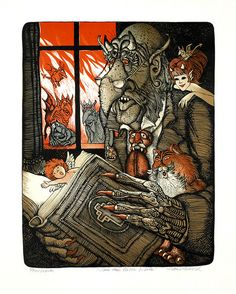 Hans Arnold – Monsters, Fairytales and Sweet, Sweet Girls Illustrations, Children's Book Illustration, Creepy Horror, Scary, Work In Sweden, Sculpture, Sweet Girls, Horror Stories, Childrens Books