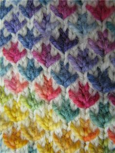 Lovely stitch pattern, great use of variegated yarn