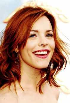 Rachel McAdams -  going to pin a few of her, she is the only celeb that can pull off ANY hair color !! :) Coppery deep red