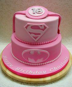 Pink Superhero - Cake by Alison Inglis
