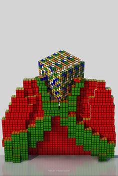 """Mr Rubik is thinking"""