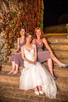 Wedding of the Week: Amy Hansen and Keith Deaney | Tuscany wedding | Muted purple bridesmaids' dresses | weddingsite.co.uk