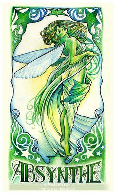 Mucha Absinthe Fairy by hatefueled on deviantART