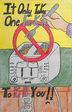 Electrical safety posters for kids by kids!