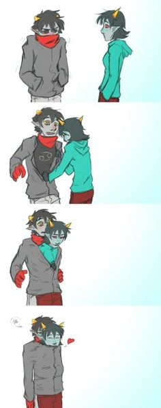 They're so cute. Pictures like these make it so hard to have an OTP in Homestuck for me