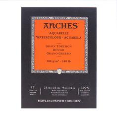 Bloco de Papel Para Aquarela Arches Canson TT 300g/m² 23x31cm 12 Folhas