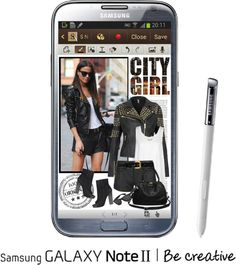 """""""Effortless Edge with Samsung GALAXY Note II"""" by roxy75 ❤ liked on Polyvore"""