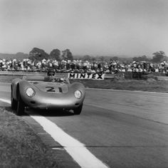 The Porsche 718 RSK of Jean Behra and Edgar Barth, running for an overall fourth during the R. Porsche 911 Rsr, My Dream Car, Dream Cars, Goodwood Circuit, Racing Events, Vintage Porsche, Bad To The Bone, Car And Driver, Grand Prix