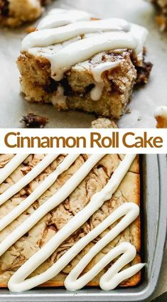 This easy Cinnamon Roll Cake has all of the warm, ooey gooey, cinnamon taste you love from a cinnamon roll, without any of the fuss! #cinnamonroll #cake #brunch #coffeecake #creamcheesefrosting #easy #dessert via @betrfromscratch Just Desserts, Delicious Desserts, Yummy Food, Baking Recipes, Cake Recipes, Dessert Recipes, Cake Tasting, Cupcake Cakes, Cake Cookies