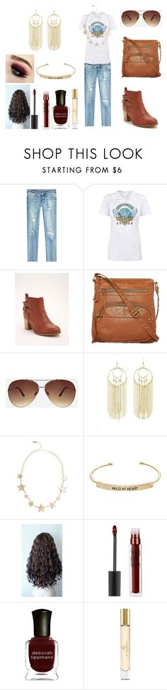 """Cute Casual Outfit for School"" by holly32196-1 on Polyvore featuring True Religion, Torrid, Arizona, Ashley Stewart, Charlotte Russe, Kensie, Maybelline, Deborah Lippmann and Burberry"