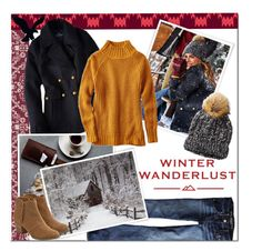 """Winter Wanderlust with American Eagle: Contest Entry"" by katienochvay ❤ liked on Polyvore featuring American Eagle Outfitters and aeostyle"