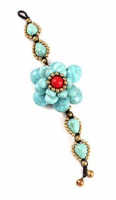 Turquoise & Coral Bracelet ♥