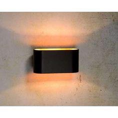 Lucide wandlamp Xera - goud/zwart