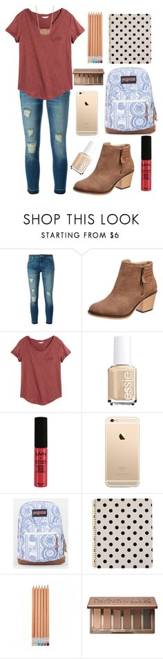 """""""Back to School in 8 days!✏️"""" by nhumphrey ❤ liked on Polyvore featuring MICHAEL Michael Kors, H&M, Essie, NYX, JanSport, Kate Spade, Urban Decay and Kendra Scott"""