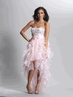 Dave & Johnny high/low dress style 8844