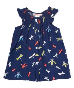 Love this Navy Dragonfly Tunic - Toddler & Girls by Paulinie on #zulily! #zulilyfinds