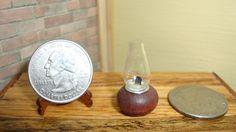 Dollhouse Miniature 1:12 Home Décor Kerosene Lantern Lamp 1 inch Tall #O9 #HandcraftedMiniaturesbyOppi