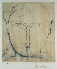 "Amedeo Modigliani (1884-1920)  Timbre sec des Archives Légales Amedeo Modigliani / Jeanne Modigliani    Tampon de la signature ""Modigliani"" - Monograme à l'encre.    Galerie Roussard (Montmartre), Paris, France    (via angelarecada)"