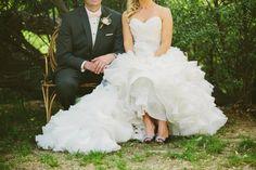 Romantic glamorous ranch wedding with breathtaking Maggie Sottero wedding dress.
