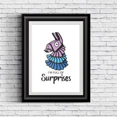 I'm Full Of Surpises Fortnite Print Poster – cherrycreeklane