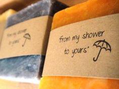 Bridal Shower Favors Custom Handmade, great favors- bathe happy soap, Heather!