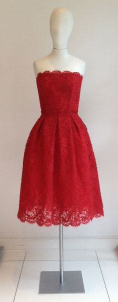 AW 13/14 | AZAGURY // red lace // red cocktail dress