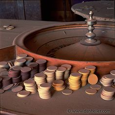Bodie, California. One of the saloon's roulette tables. Abandoned Town. See previous post for further details.
