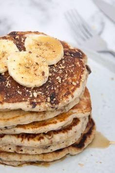 Vegan Banana Bread Pancakes #vegan #banana #pancakes #breakfast #sweet