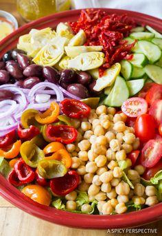 Awesome - My Big Fat Greek Salad Recipe | ASpicyPerspective.com