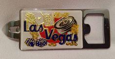 "Circus Circus Bottle Can Opener 4"" Las Vegas 1987 Metal Chrome New"