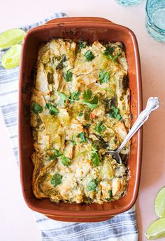 Hatch Chile Enchilada Casserole - The Defined Dish
