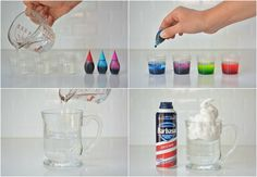 experimente-kinder-regenwolke-glas-selber-machen-anleitung-wasser-lebensmittelfa… experiments-kids-rain cloud-glass-yourself-making instructions-water-food colorings Elementary Science, Science For Kids, Das Experiment, No Wifi Games, Kid Experiments, Rain Clouds, Food Coloring, Water Bottle, Glass