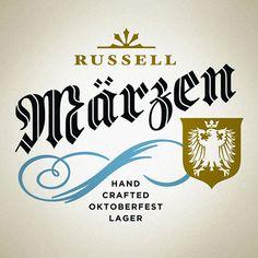 Russell Märzen Oktoberfest Lager Logo Designed by Atmosphere Design