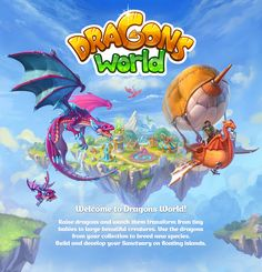Dragons' World project overview on Behance